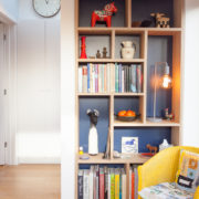Bespoke plywood shelving