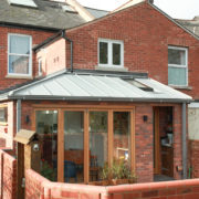 Zinc roof side return extension
