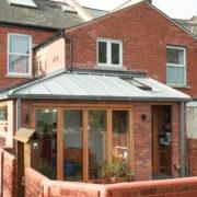 Zinc roof side return extension