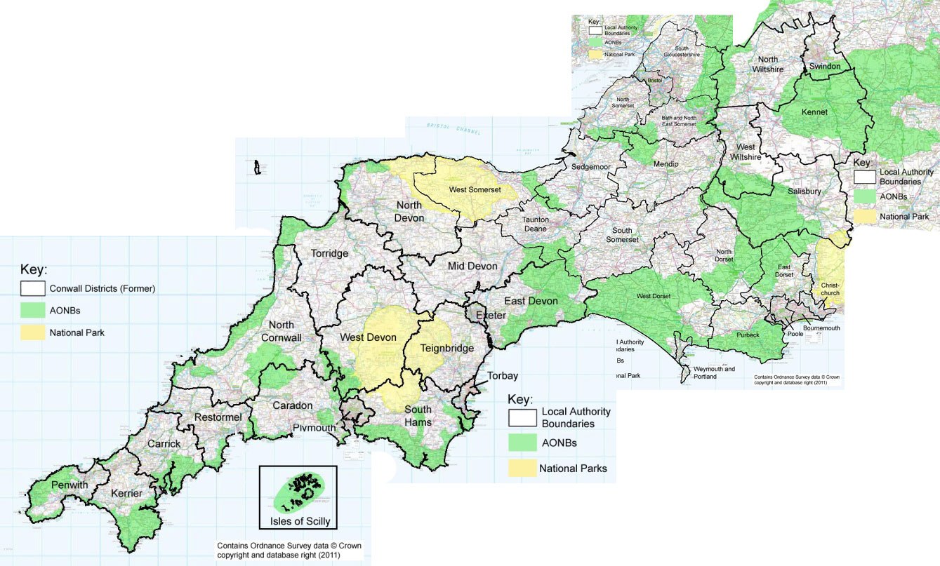 South West Regional local councils map
