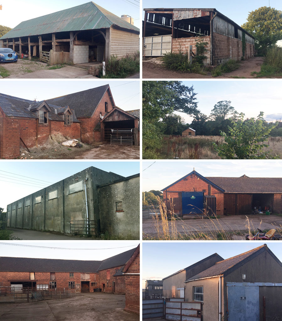 Collection of barns suitable to convert to dwellings under Class Q