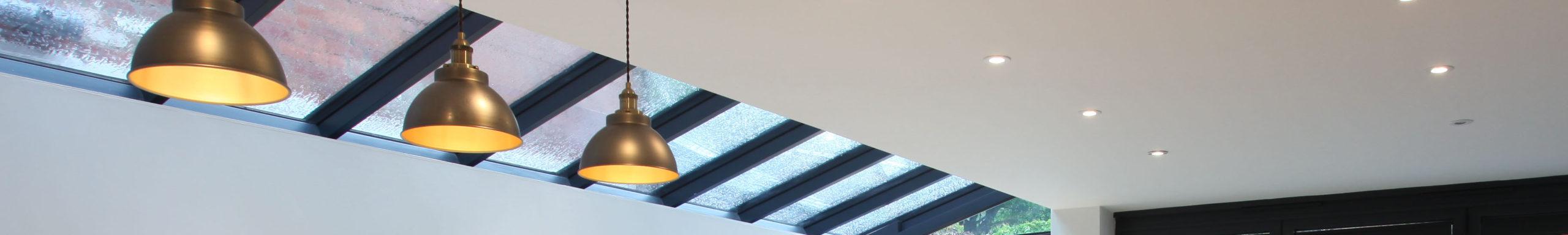 Glass side return roof