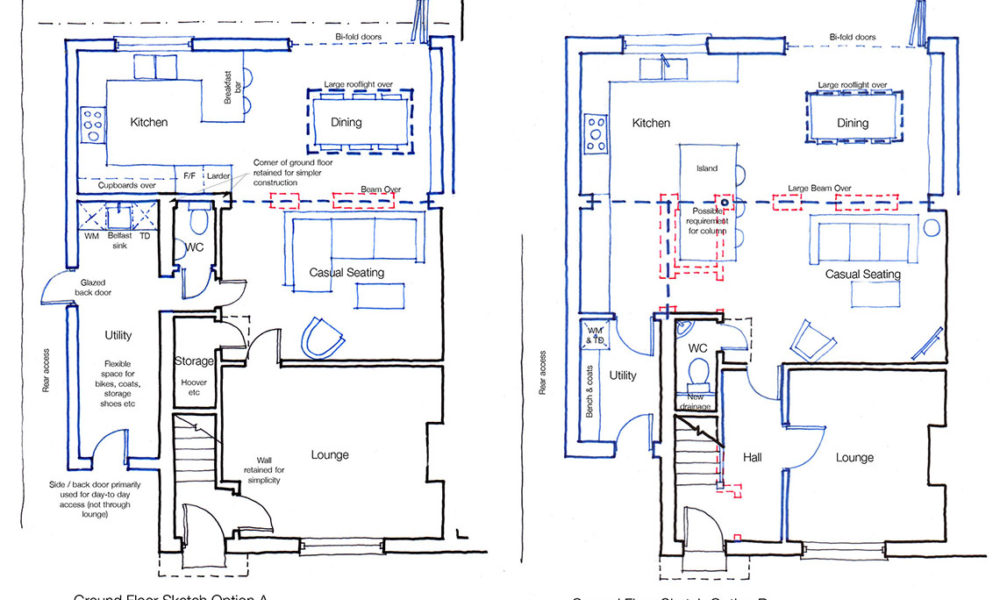 Variety of sketch design options