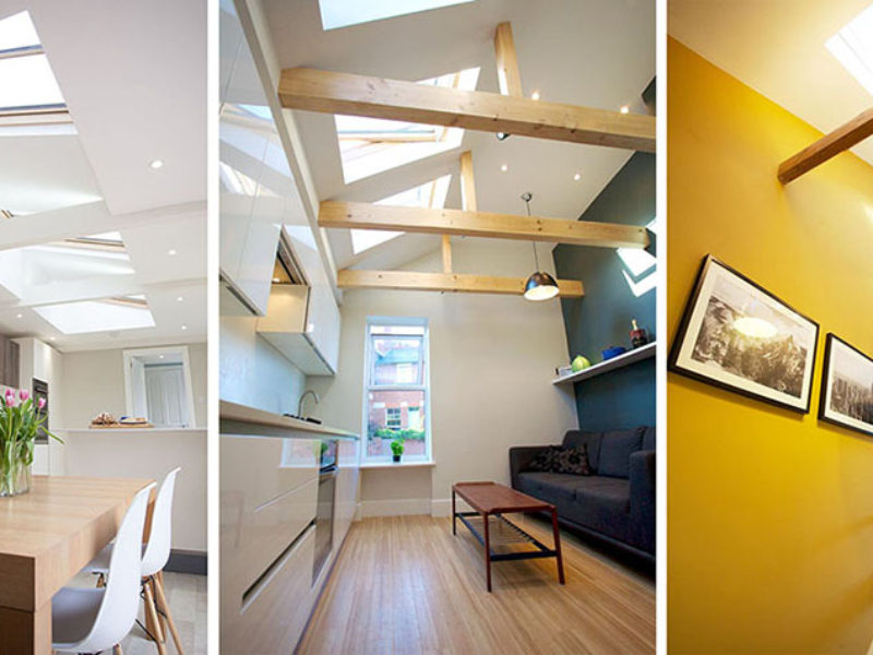 Vaulted ceilings feature