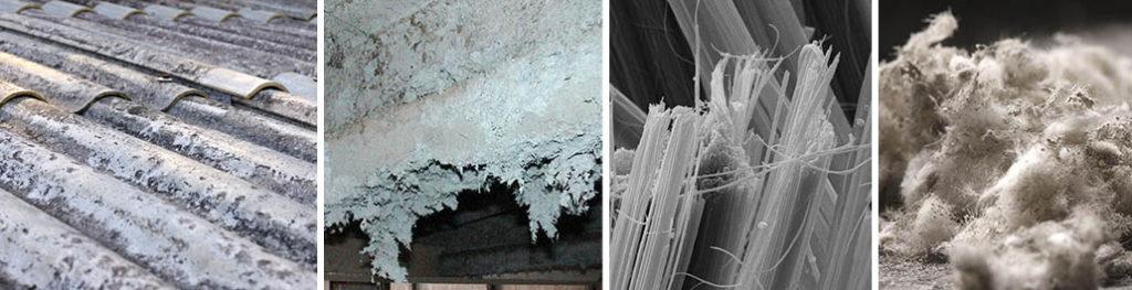 Types of common asbestos materials