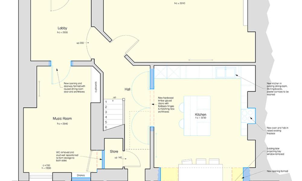 kitchen extension plan